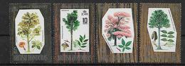 BRITISH HONDURAS 1969 Hardwood Trees, Complete Set MNH - British Honduras (...-1970)