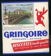 BUVARD:  BISCOTTES GRINGOIRE - PITHIVIERS EN GATINAIS - 71 - PONT ALEXANDRE III - Biscottes