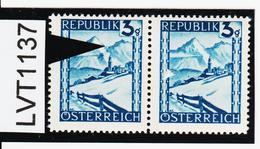 LVT1137 ÖSTERREICH 1945 MICHL 738 PLATTENFEHLER BERGSTEIGER ** Postfrisch - Abarten & Kuriositäten