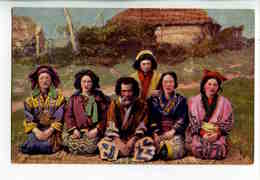 """C 149  -  Group Of Ainos - """"Japanese At Home"""" - Japon  -  Tuck - Asie"""