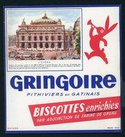 BUVARD:  BISCOTTES GRINGOIRE - PITHIVIERS EN GATINAIS - L'OPERA - Biscottes