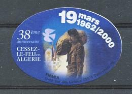 FRANCE - Vignette FNACA - 38ème Anniversaire - Military Heritage