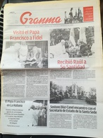 Papa Francesco Viaggio Visita Apostolica Cuba Kuba Quotidiano Granma - [3] 1991-Hoy