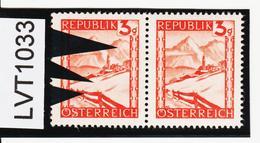LVT1133 ÖSTERREICH 1947 MICHL 838 PLATTENFEHLER PAPIERFALTE ** Postfrisch - Abarten & Kuriositäten