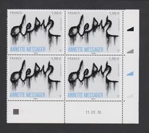 FRANCE - 2018 - Annette MESSAGER  - Bloc De 4 Timbres à 1,90€ Gommés - Coin Daté Du 11/01/18 Neuf ** - - France