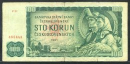329-Tchécoslovaquie Billet De 100 Korun 1961 Z21 - Tchécoslovaquie