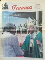 Papa Francesco Viaggio Visita Apostolica Cuba Kuba Quotidiano Granma - Zeitungen & Zeitschriften