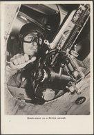 Bomb-Aimer On A British Aircraft, C.1960s - RP Postcard - War 1939-45