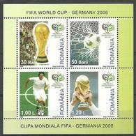 Romania 2006 Mi Bl 381 MNH ( ZE4 RMNbl381 ) - Coppa Del Mondo