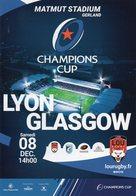 Programme Du Match De H Cup LYON / GLASGOW WARRIORS 2018/2018 - Rugby