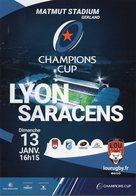 Programme Du Match De H Cup LYON / SARACENS 2018/2018 - Rugby