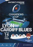 Programme Du Match De H Cup LYON / CARDIFF BLUES 2018/2018 - Rugby