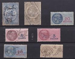 LOT De 5 Timbres Fiscaux Différentes Périodes - En Cadeau 2 Timbres 2e Choix (rangée Inférieure) - Revenue Stamps