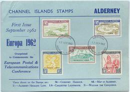 Guernsey - Alderney EUROPA 1962: Views, Map & William The Conqueror With O COMMODORE 17 SEP 1962 GUERNSEY - ALDERNEY - Alderney