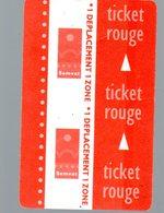 Lot De 4 Tickets De Transport Divers (PPP17147) - Titres De Transport