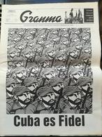 Fidel Castro Cuba Kuba Quotidiano Granma Annuncio Della Morte - Magazines & Newspapers