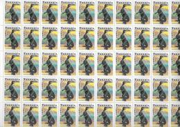 TANZANIA - 1991 - FAUNE PREHISTORIQUE - YVERT N° 714/720 ** MNH En FEUILLE COMPLETE De 50 TIMBRES - COTE = 400 EUR. - Tanzania (1964-...)