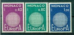 Monaco 1970 - Y & T N. 819/21 - Europa - Monaco