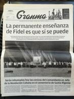 Fidel Castro Cuba Kuba Quotidiano Granma Funerali - Revues & Journaux
