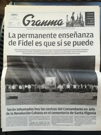 Fidel Castro Cuba Kuba Quotidiano Granma Funerali - Magazines & Newspapers