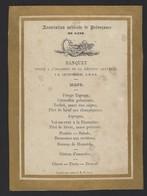 GENT * GAND * ASSOCIATION MEDICALE DE PREVOYANCE DE GAND * 1868 * 16.5 X 12 CM - Menus