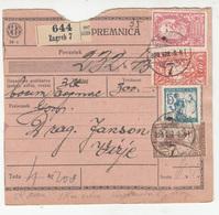 Slovenia SHS Verigari Chainbreakers Parcel Card Poštna Spremnica 1920 Zagreb To Virje B190210 - Slovenia
