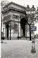 KISS FROM PARIS. Illustration De L'ARC DE TRIOMPHE. Voitures - Arc De Triomphe