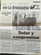 Fidel Castro Cuba Kuba Periodico LA DEMAJAGUA Edizione Speciale Funerali - Riviste & Giornali