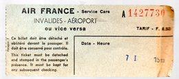 Paris :  Ticket AIR FRANCE : Invalides-aéroport (PPP17149) - Bus