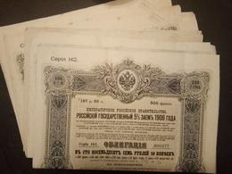 Lot 11 Emprunts RUSSE 1906 Sans Coupons - Aandelen
