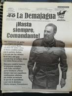 Fidel Castro Cuba Kuba Periodico LA DEMAJAGUA Edizione Speciale Morte - [3] 1991-Hoy