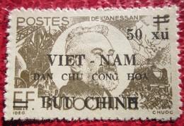 Timbre Indochine Surcharge  Vietnam ...dan Chu Cong Hoa - 50 Xu - Viêt-Nam