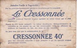 """Buvard """"la Cressonnée"""" 40 ° - Liqueur & Bière"""