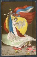 "CPA Signierte Color Propaganda Ansichtskarte France Patriotique 1916""Dehors Les Barbares !!!! "" 1 AK Benutzt - Ereignisse"