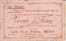 """Buvard """"champagne Vicomte D'Arlény - Liqueur & Bière"""
