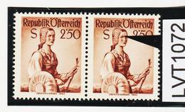 LVT1072 ÖSTERREICH 1952 MICHL 979 PLATTENFEHLER FARBFLECK ü. AUGE GINDL 9/I 60 PUNKTE Postfrisch - Abarten & Kuriositäten