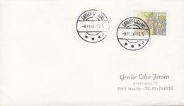 Denmark Brotype IId GØRLEV SJÆLLAND (Sn. 2) 1984 Cover Brief Scouts Pfadfinder Stamp (Cz. Slania) - Briefe U. Dokumente