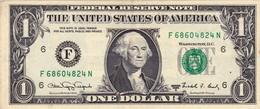 "USA 1 Dollar Of Federal Reserve Notes 1988 A WEB PRESS F-N 4/2 EXF ""free Shipping Via Registered Air Mail"" - Billets De La Federal Reserve (1928-...)"