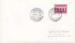 Denmark Brotype IId FREDERICIA CENTRALSORTERING 1984 Cover Brief Europa CEPT Stamp (NO Common Cancel !!) - Briefe U. Dokumente