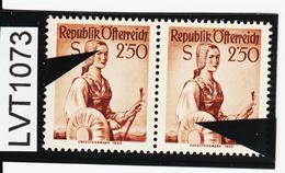 LVT1073 ÖSTERREICH 1952 MICHL 979 PLATTENFEHLER FARBFLECK ü. AUGE GINDL 9/I 60 PUNKTE Postfrisch - Abarten & Kuriositäten