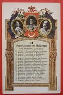 AUSTRIA ,GERMANY, TURKIE LITHO POSTCARD - 21 , KRIEGSERKLARUNGEN DES WELTKRIEGES - Oorlog 1914-18