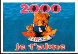 **2000 Je T'Aime (Ourson Dans Une Bouée Et Lunettes De Soleil** Carte à Trou NEUVE Edit De La Palette - Ours