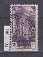 ITALIA COLONIE  1931TRIPOLITANIA Serie Pittorica 80 Cent Usato - Tripolitania