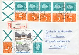 23 X 1975   Aangetekende Brief Van LOSSER Naar Hanau - Periodo 1949 – 1980 (Juliana)