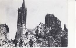 Coutances Rue Montbray Au Soir De L Arrivée Des Américains 28 07 1944 édit Brosset échoppe Dimention 170x120 Milimetre - Coutances