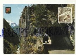 Valls D'Andorra. Tunnels De La Massana. Commercial Escudo De Oro. Timbre - Andorre
