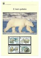 DT 60 - WWF - FEUILLET 4 TIMBRES  - THEME OURS - W.W.F.