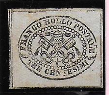 Italian States STATO PONTIFICIO Papal States Tre Centesimi - Etats Pontificaux