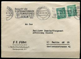 "Germany Berlin 1952 Firmen Bedarfsbrief Mit Mi.Nr.44 U.MST""Berlin-Besucht Die Intern.Filmfestspiele Berlin ""1 Beleg - Kino"
