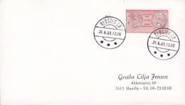 Denmark Brotype IId BEDSTED LØ 1981 Cover Brief Coin Münze Cz. Slania (NO Common Cancel !!) - Briefe U. Dokumente